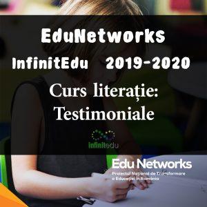 Program EduNetworks: testimoniale curs literație, InfinitEdu 2019-2020